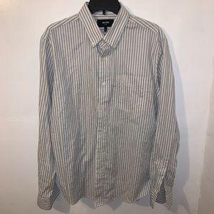 Jack Spade Men's Button Down Dress Shirt Large